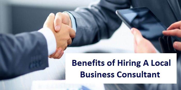 Hiring local business consultant