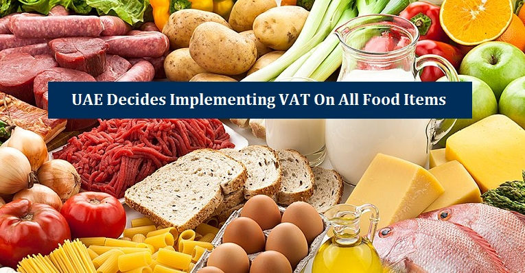 UAE Decides Implementing VAT On All Food Items