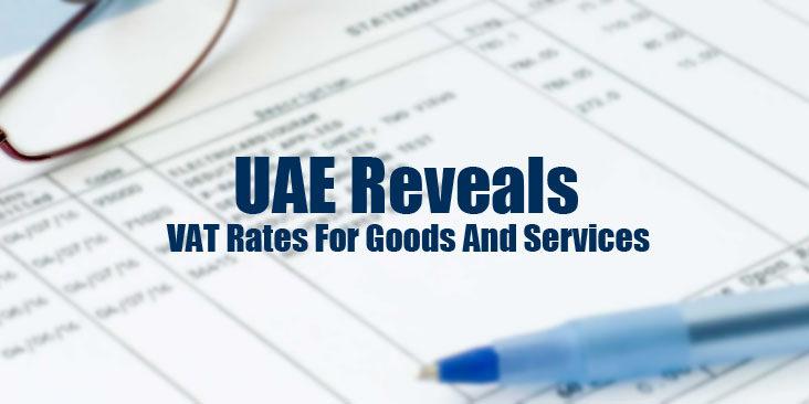 Reveals VAT rates goods and services