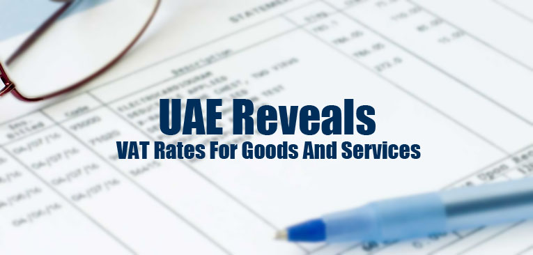 Reveals VAT rates goods and services