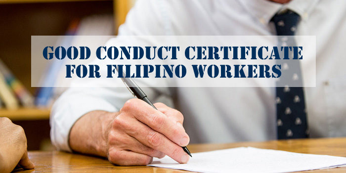 Good Conduct Certificate Filipino Workers