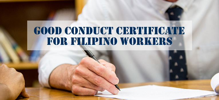 Good Conduct Certificate Filipino Workers