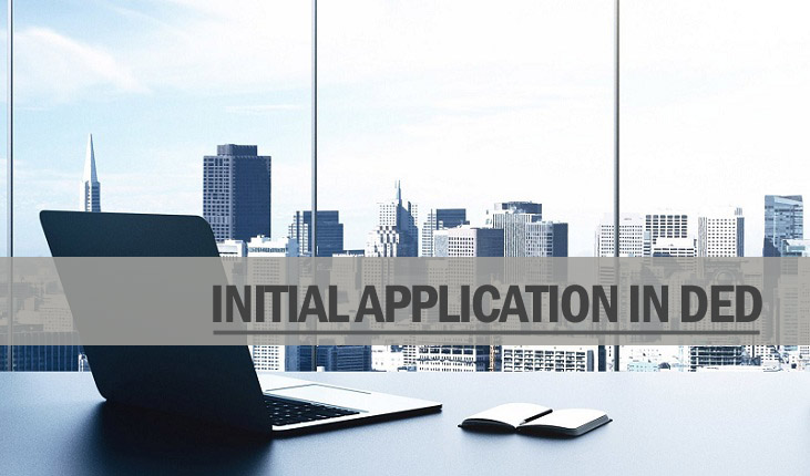 Intial application ded