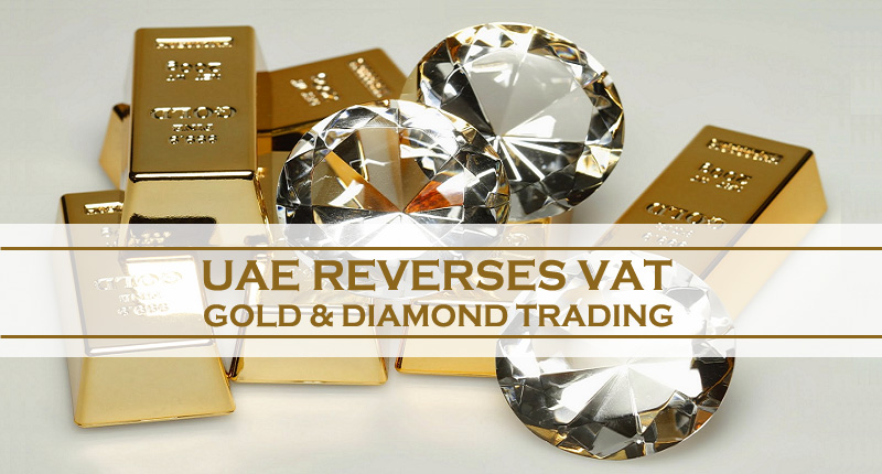UAE Reverses VAT On Gold & Diamond Trading