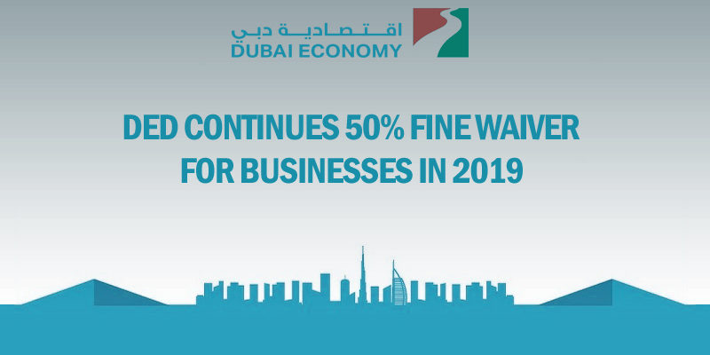 Ded 50% fine waiver businesses 2019