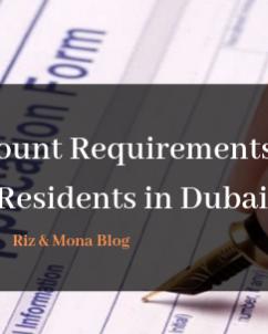 bank account requirements
