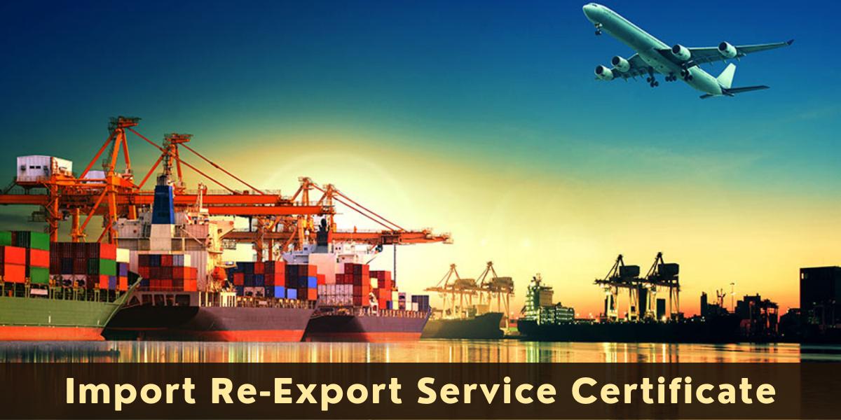Import Re-Export Service Certificate